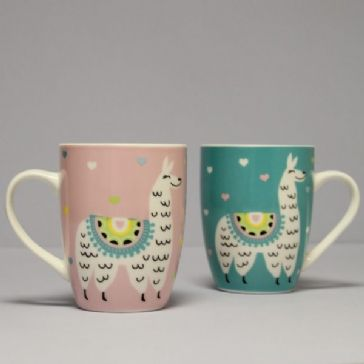 Set of 2 Llama mugs